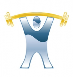 Weightlifter illustration vector