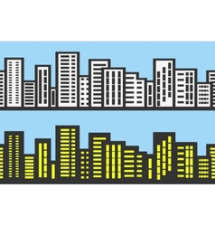 Silhouettes cityscapes vector