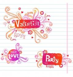 love doodle frames vector image