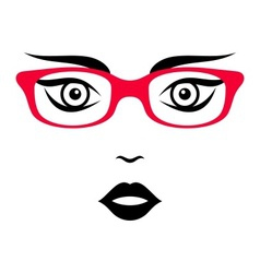 Woman face with glasses vector