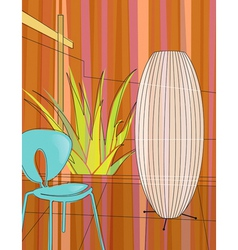 home indoor garden vector image