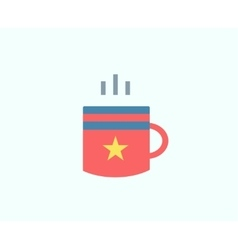 Red cup icon isolated tea objects or vector