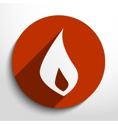 Fire flame web icon vector