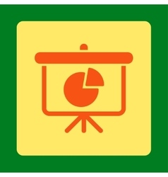 Pie chart demonstration icon vector