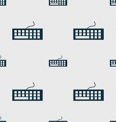 Computer keyboard icon seamless abstract vector
