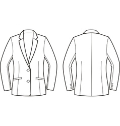 Women business jacket vector