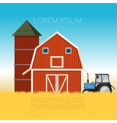 Farm banner with tractor vector image