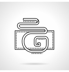 Flat line serpentine icon vector
