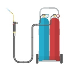 Oxy fuel welding vector image
