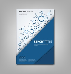Brochures book or flyer with triangular blue vector