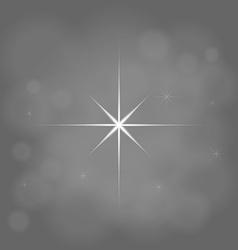 abstract star magic light sky bubble blur gray vector image vector image