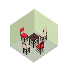 Apartment in isometric projection vector