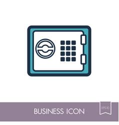 bank safe outline icon finances sign vector image vector image