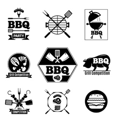 Barbecue logo set vector image