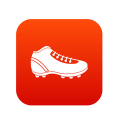 Baseball cleat icon digital red vector