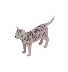 Bengal cat icon isometric 3d style vector