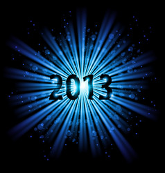 blue abstract happy new year twenty thirteen vector image
