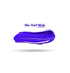 Blue paint splash thick stroke vector