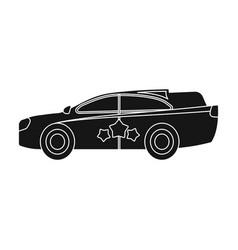Car single icon in black stylecar symbol vector