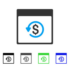 Chargeback calendar page flat icon vector
