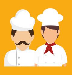 Chef avatars icon vector