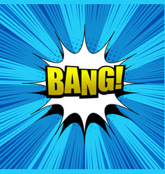 Comic bang wording background vector