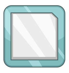 cpu icon cartoon style vector image
