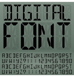Digital font vector