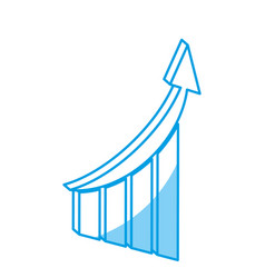 financial chart icon vector image