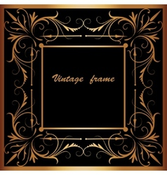 frame with square ornament vector image