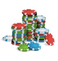 gambling poker chips stacks realistic vector image vector image