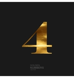 Golden number 4 vector image