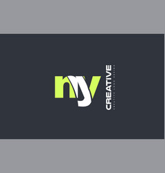 Green letter ny n y combination logo icon company vector