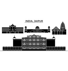 India jaipur architecture urban skyline with vector