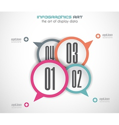 Infographics concept background with stylish vector image vector image