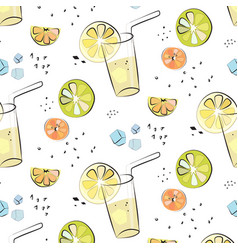 Juicy fresh lemon orange grapefruit vector