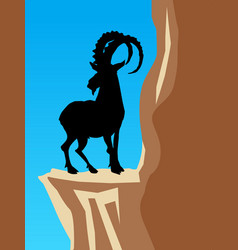 mountain goat vector image