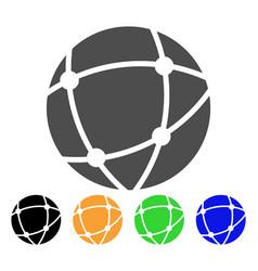Network sphere icon vector