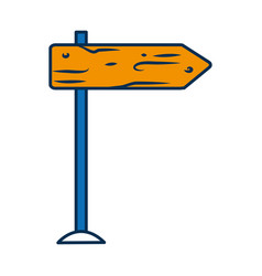 road sign icon vector image