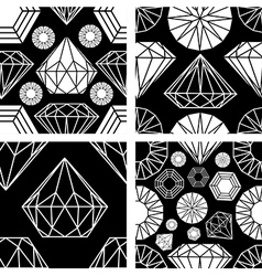 Seamless diamonds set 2 vector