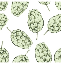 Seamless pattern with hop vector