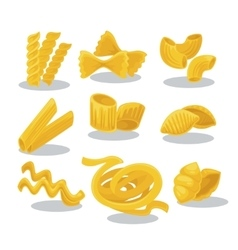 Set foods of wheat italian cuisine vector