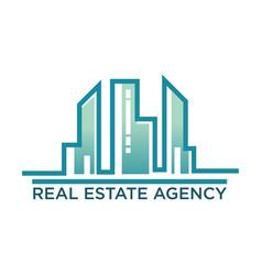 Skyline real estate agency symbol vector