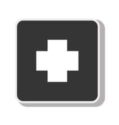 Symbol cross medical medicine design vector