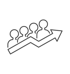 Teamwork business people teambuilding icon group vector