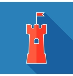 Tower flat icon vector image vector image