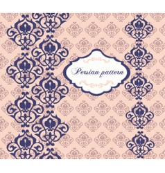 Vintage card with damask ornaments vector image vector image