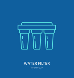 water filter plumber equipment vector image
