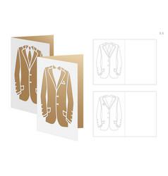 Wedding invitation with dress vector