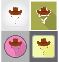 wild west flat icons 12 vector image